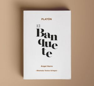 portada del libro el banquete de Platón. edición bilingüe.