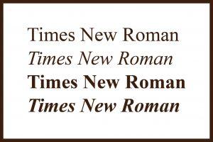 tipografía times new roman