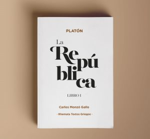 Portada principal del libro La República de Platón traducido por Carlos Monzó Gallo